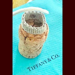 Tiffany & Co Somerset 925 Woven Mesh Ring 6.5